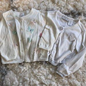 EUC Embellished Cardigans, 9m & 12m